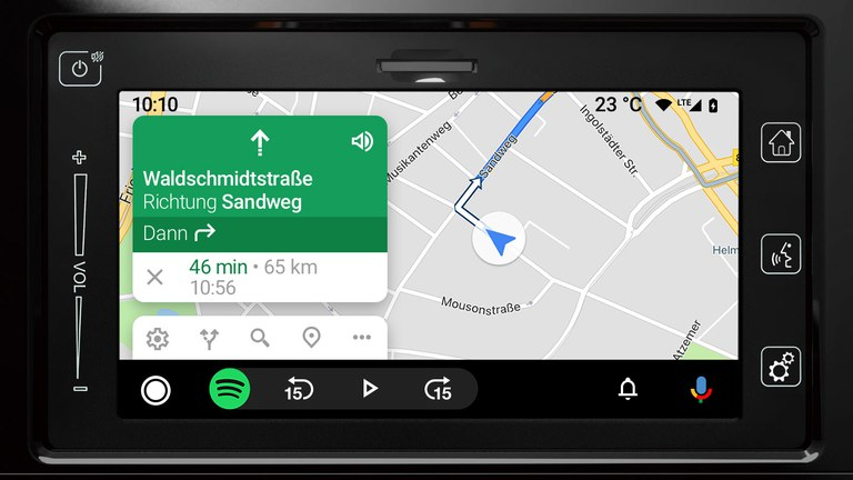 Android Auto im Suzuki Vitara Hybrid.