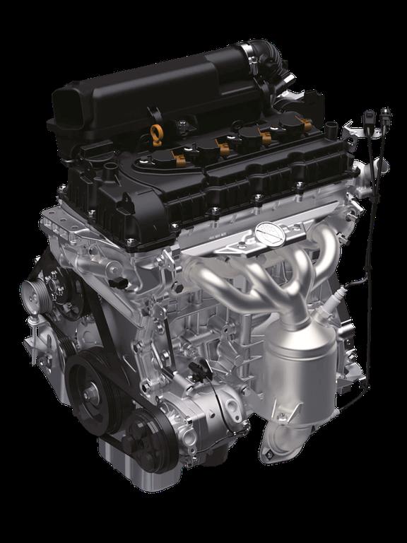 Ansicht des Suzuki Ignis Hybrid 1.2 Liter Dualjet Motors.