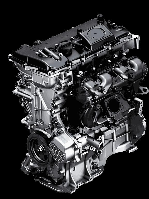 1,8-Liter Benzinmotor kombiniert mit Elektromotor