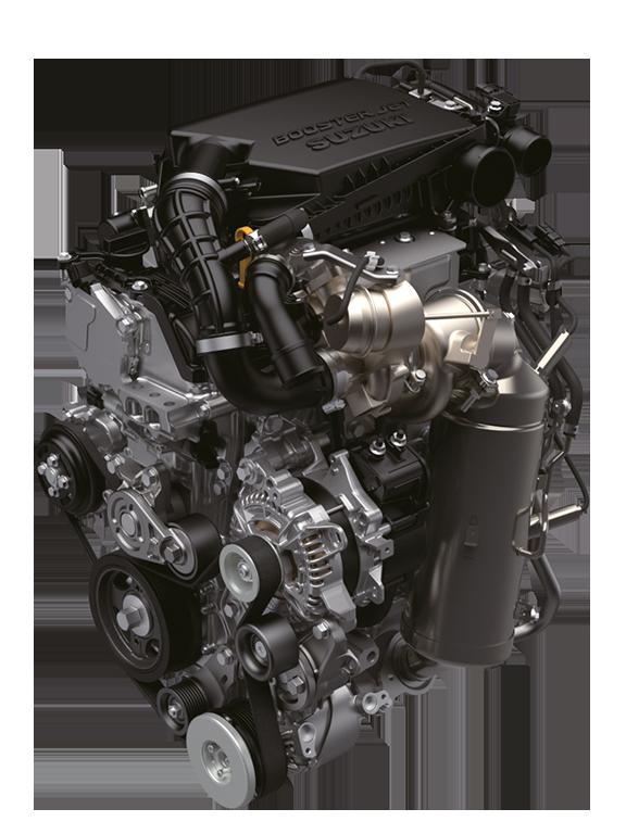 Ansicht des Suzuki Swift Sport Hybrid 1.4 Liter Boosterjet Motors