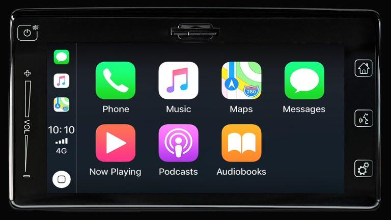 Apple CarPlay im Suzuki Swift Hybrid.